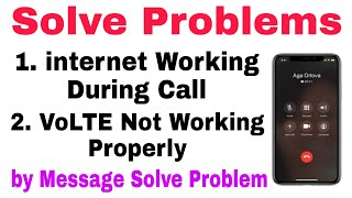 How to Use internet while During Call For All Mobile | How to Activate VoLTE by Sms | Multiple ideas