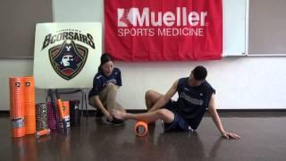 腓骨筋(下腿外側)をGRIDフォームローラーを使ってほぐす TriggerPointTM Performance Therapy 横浜ビーコルセアーズ x Mueller Japan 放散痛 検索動画 11