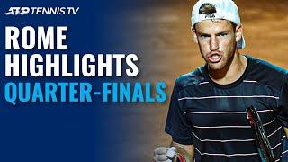 Schwartzman Shocks Nadal; Djokovic, Shapovalov Fight Through | Rome 2020 Quarter-Final Highlights