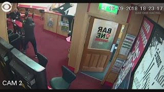 RAW VIDEO: Elderly man fights off armed robbers at Irish spots betting business