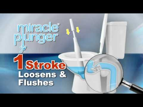Miracle Plunger® - Cleanest & Most Powerful Toilet Plunger - YouTube