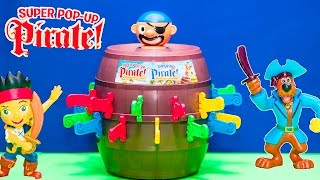 PIRATE POP UP Game Scooby Doo and Jake and the Never Land Pirates Up Toys Video Unboxing
