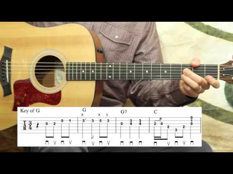 Blue Moon of Kentucky - Guitar Lesson - Bill Monroe