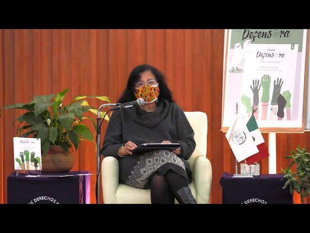 Discurso de Presidenta de la CDHCM, en la Presentación del #5 de la revista Ciudad Defensora