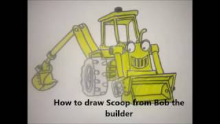 How to draw Scoop from Bob the builder