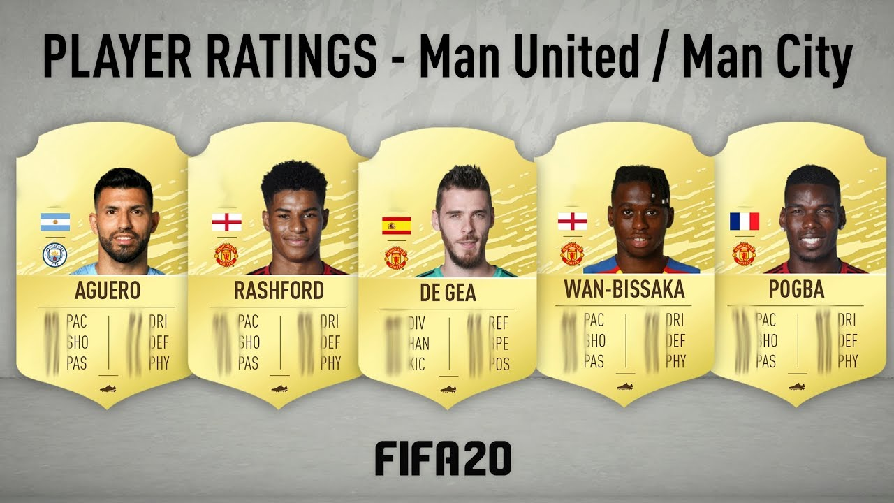 Fifa 20 Player Ratings Manchester United Manchester City My Fut 20 Predictions
