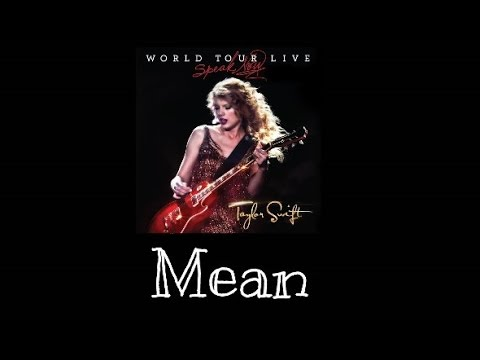 taylor swift mean speak now world tour live audio
