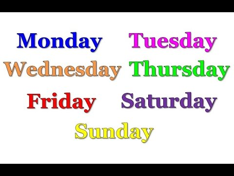 The Days of the Week Song (Starting with Monday) | Silly ...