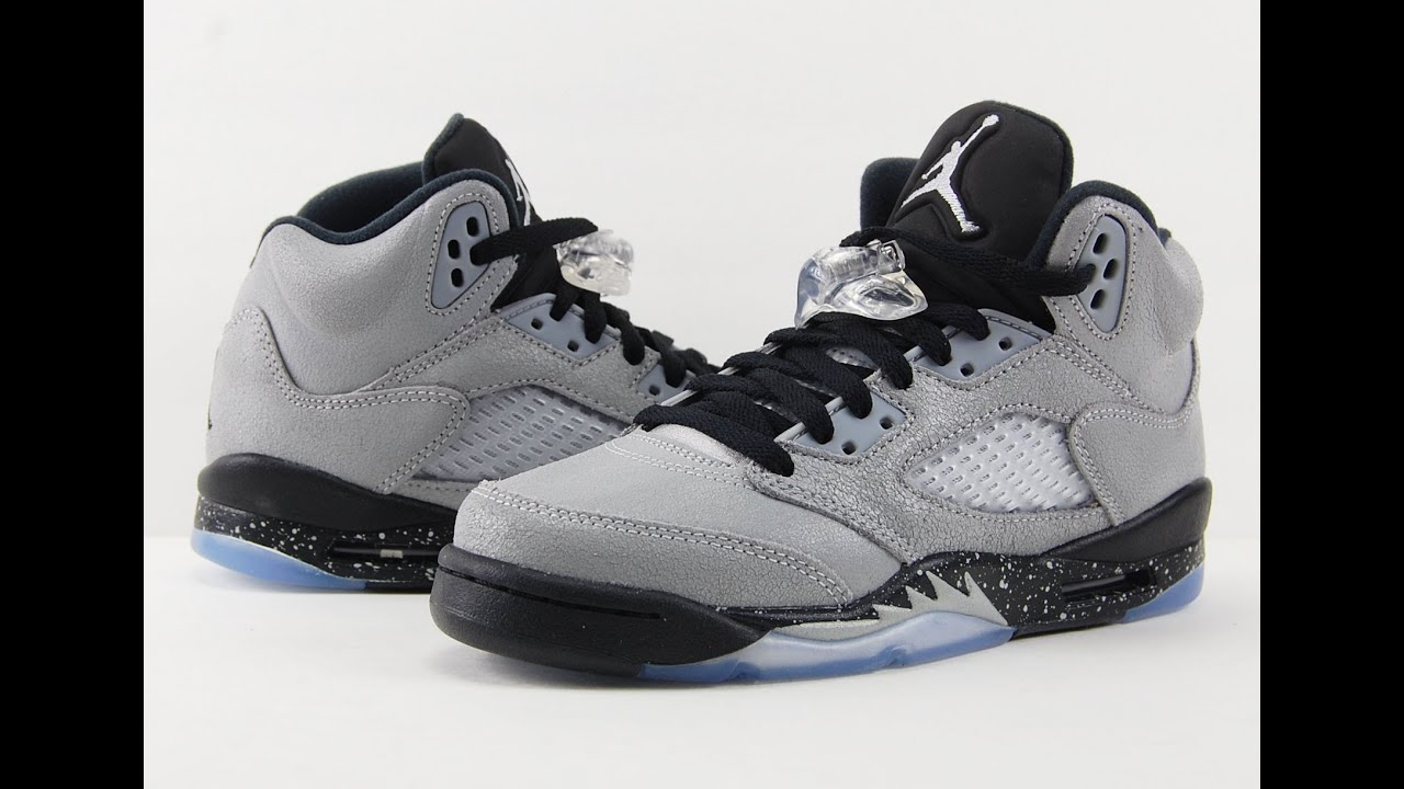 Air Jordan 5 Gs Black Wolf Grey Review + On Feet Youtube