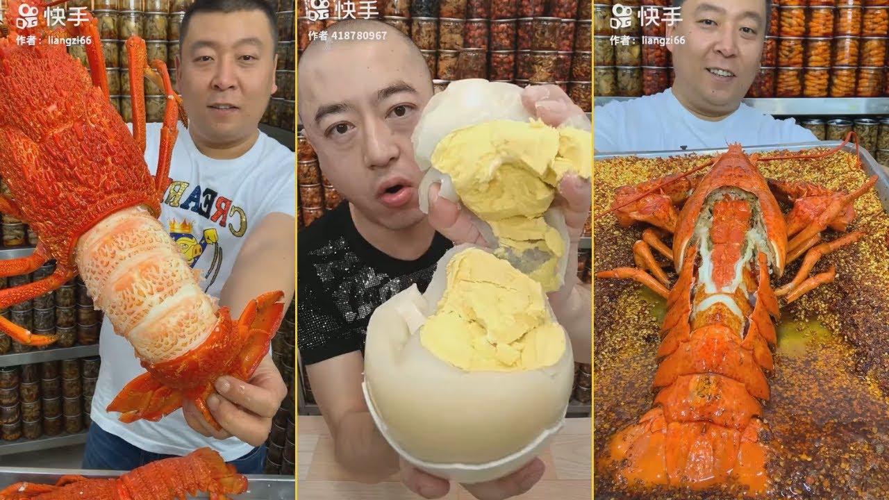 Thánh ăn tôm hùm,cua hoàng đế,Kingcrab,lobster #4 🦑🦀🦐🦞🐟 Thánh ăn hải sản trung quốc