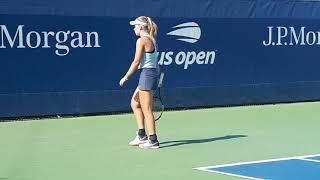 Анастасия Тихонова на юниорском US Open 2018