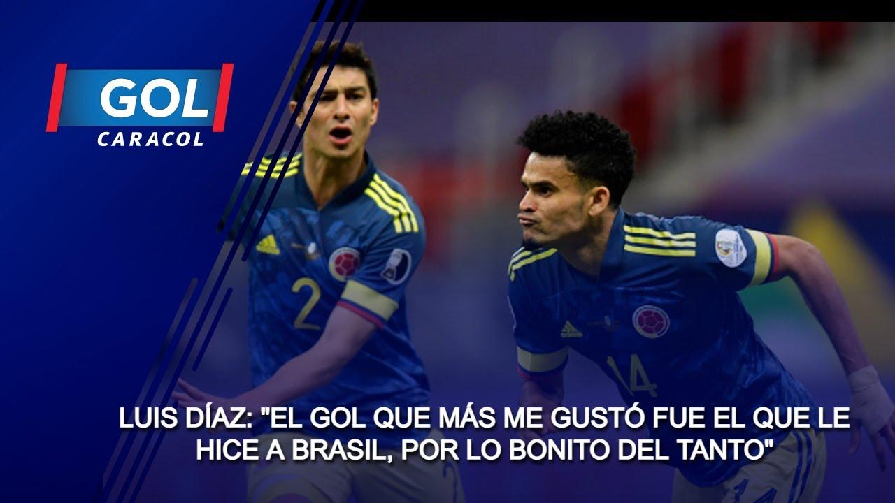 """Luis Díaz: """"El gol que más me gustó fue el que le hice a Brasil, por lo bonito del tanto"""""""