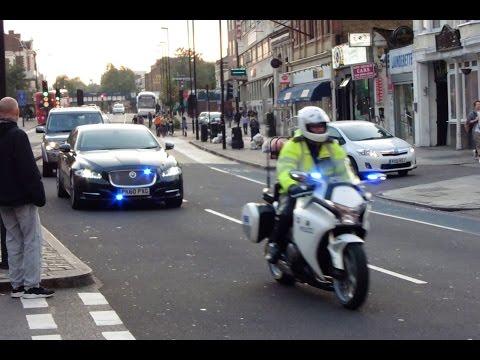 Metropolitan Police SEG Escorting Prime Minister David Cameron