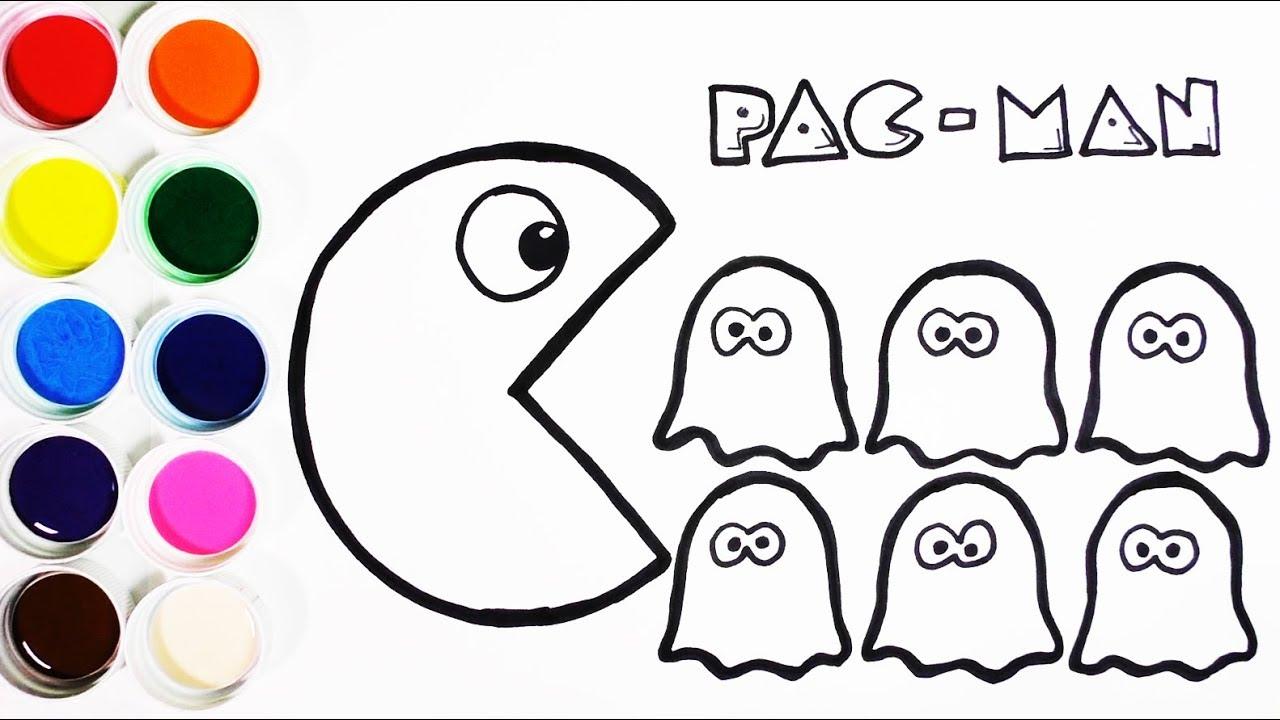 Cómo Dibujar y Colorear Pac Man y Las Fantasmas - Aprende Colores ...