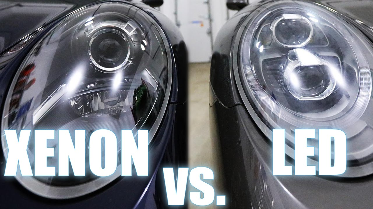 Xenon Vs Led Porsche Pdls Headlights Also Halogen Youtube
