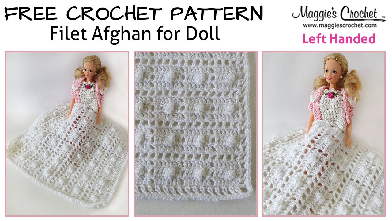 Baby Doll Filet Afghan Free Crochet Pattern Left Handed
