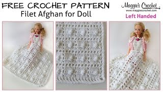 Baby Doll Filet Afghan Free Crochet Pattern - Left Handed