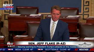 2018-01-17-15-42.FAKE-NEWS-WATCHDOG-Senator-Jeff-Flake-Warns-President-Trump-Of-Slamming-Media