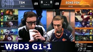 TSM vs Echo Fox Game 1 | S7 NA LCS Spring 2017 Week 8 Day 3 | TSM vs FOX G1 W8D3 1080p