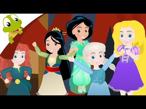 Five Little Princess jumping on the bed Nursery Rhyme for Kids