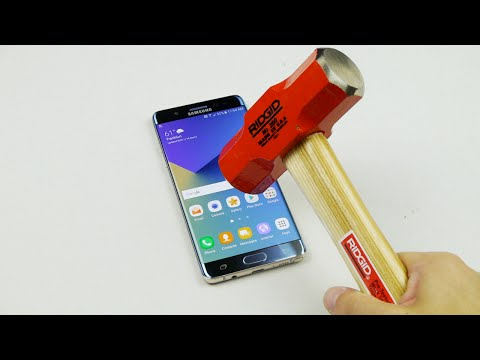 Samsung Galaxy Note 7 Hammer & Knife Scratch Test