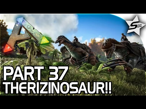THERIZINOSAURUS TAMING, TROODON ATTACK, COMPOUND BOW!! - ARK Survival Evolved PS4 Gameplay Part 37