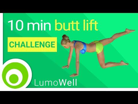 Butt lift challenge: 10 minute brazilian butt lift workout