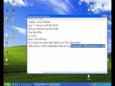 windows media player 11 senza convalida