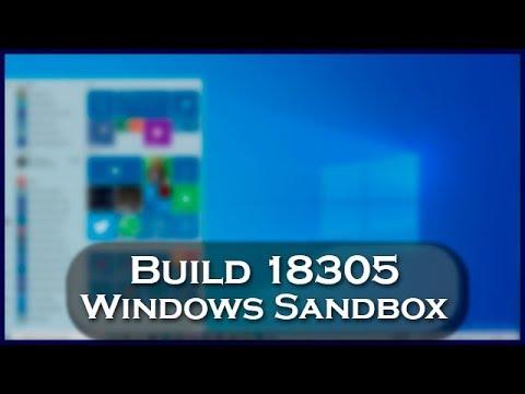 Windows 10 Build 18305   Windows Sandbox, Caixa de Pesquisa, My Office e muito mais!