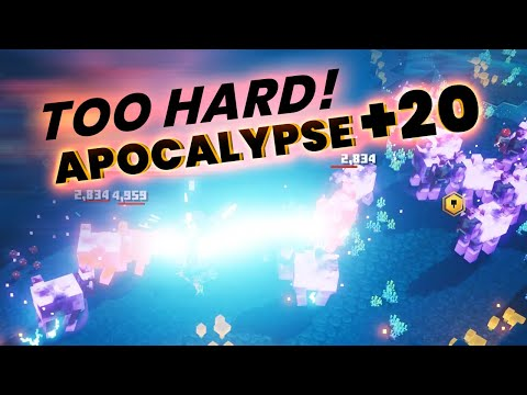 APOCALYPSE +20 Minecraft Dungeons: HIGHEST DIFFICULTY In The Game!