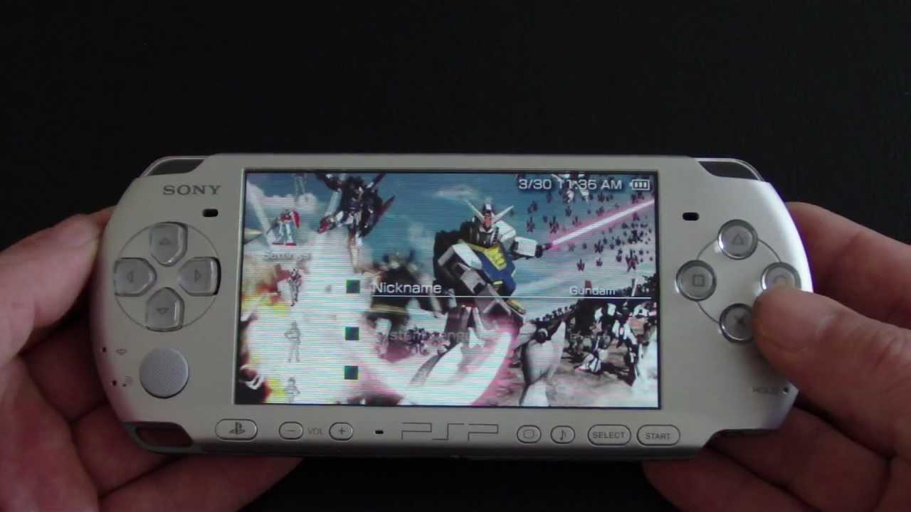 Custom Sony PSP 3000 Gundam Vs. Gundam PlayStation Portable - YouTube