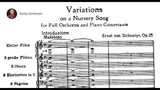 Ernst von Dohnányi - Variations on a Nursery Tune, Op. 25 (1914)