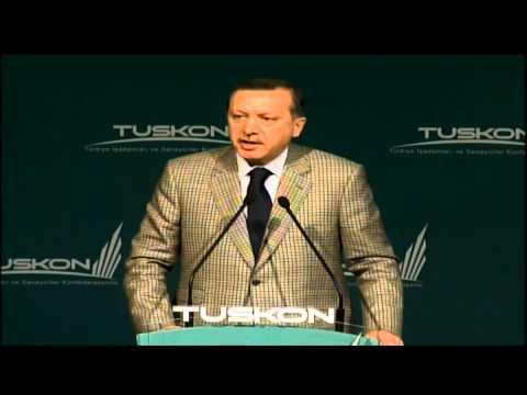 Dünden bugüne Tayyip Erdoğan'ın TUSKON konuşmaları