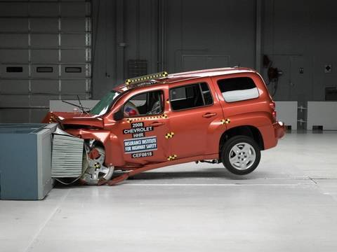 2008 Chevrolet HHR Moderate Overlap IIHS Crash Test