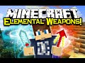Minecraft ELEMENTAL WEAPONS MOD Spotlight! - Elemental Powers! (Minecraft Mod Showcase)