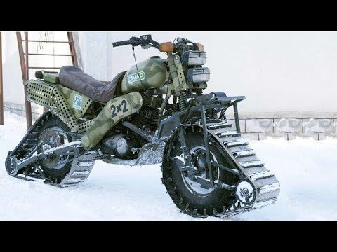 Fantastic Tracked Motorcycles
