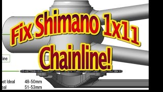 How to fix Shimano XT M80001x11 chainline backpedal. Починить Шимано XT чейнлайн