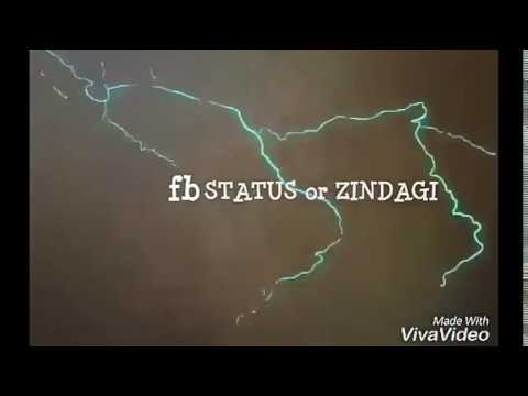 #first look| fb status or zindagi| Anshul Parmar Presentation| dedicated to all friends