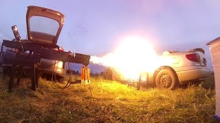 250lb Railgun vs. Galaxy S3, 27,000 Joules, Launch #7