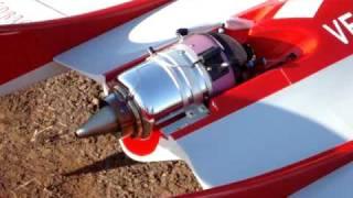 aeromodelo R/C - acionamento de turbina e decolagem