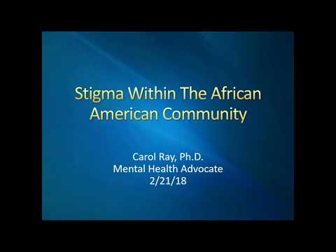 Stigma Within The African American Community