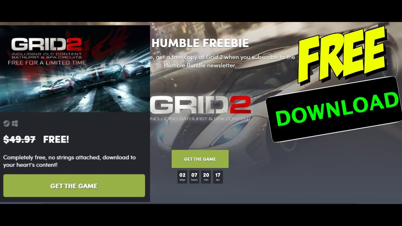For a limited time, get GRID 2 for free and keep it forever including  Bathurst & Spa Content