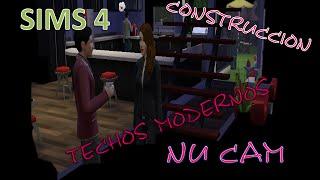 SIMS 4...COMO HACER TECHOS MODERNOS Y COMO CONSTRUIR
