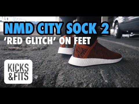 nowy haj ogromny zapas niższa cena z adidas NMD City Sock 2 'Red Glitch' ON FOOT Review | Kicks and Fits