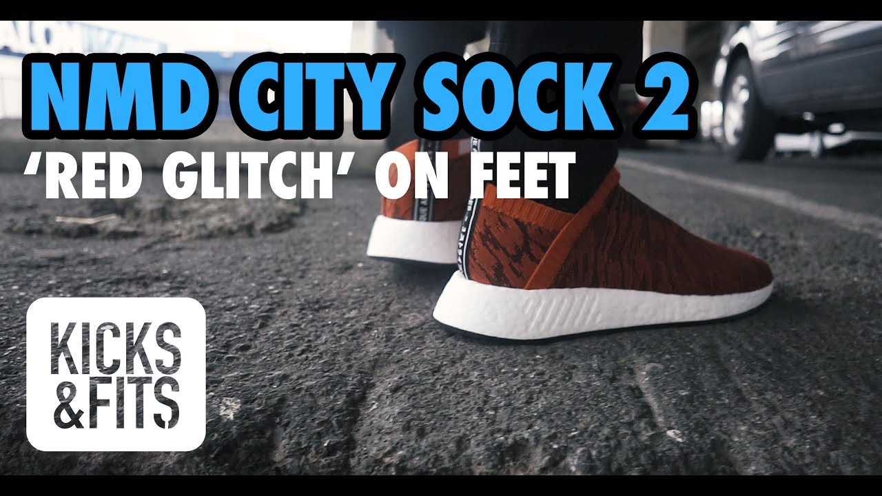 separation shoes a1b69 26f67 adidas NMD City Sock 2 Red Glitch ON FOOT Review  Kicks and Fits