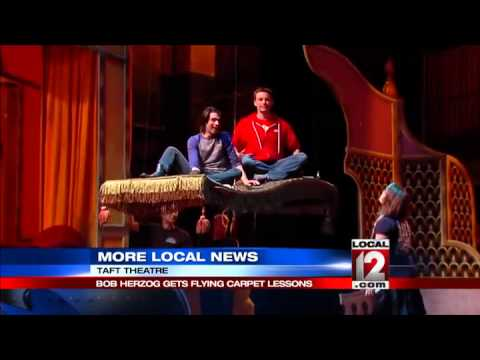 Bob Herzog gets flying carpet lessons for Disney's Aladdin Jr.