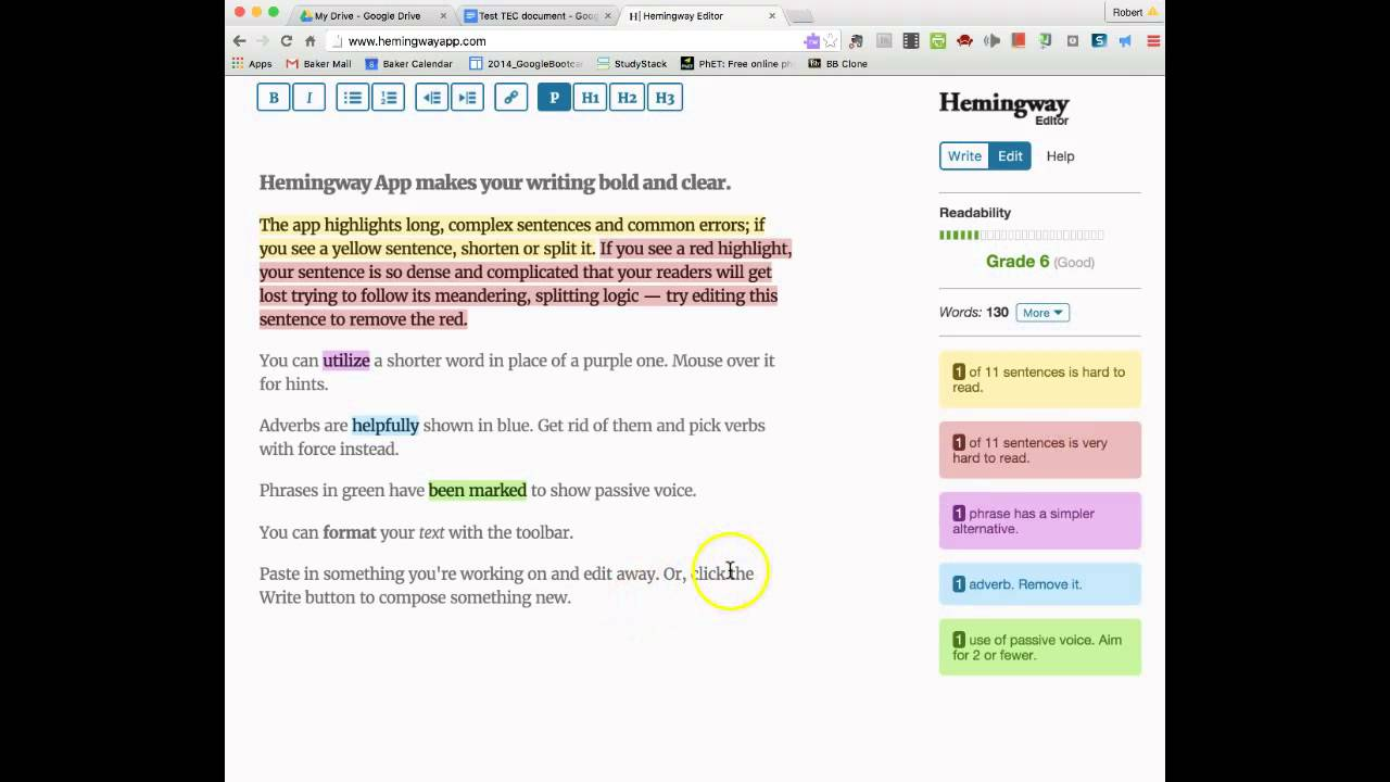edit your writing online