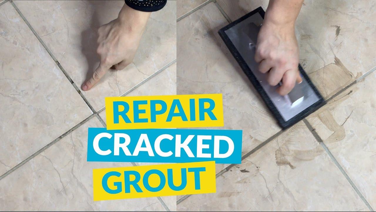 repair cracked grout
