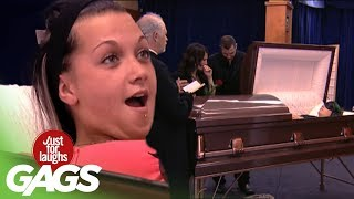 Creepy Coffin Pranks  Best of Just For Laughs Gags