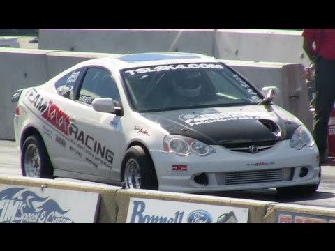 10 Second TURBO RSX Drag Race, Rob Ingles XXX Racing 10.58 Import Wars NED
